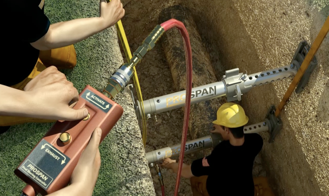 Hydraulic Shoring Jacks : Prospan shoring solutions osha trenching
